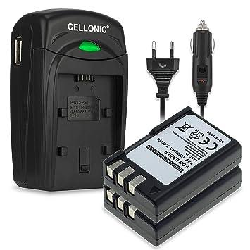 CELLONIC 2X Batería Compatible con Nikon D3000 D5000 D60 D40 D40x, 1000mAh Pila Repuesto EN-EL9 ENEL9a EN EL9e Cargador MH-23 Cable Carga Coche ...