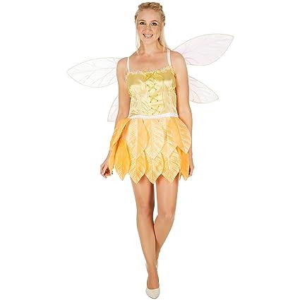 dressforfun Costume da Donna - Fata Delle Foglie Fiore d oro  247e5f2cba1