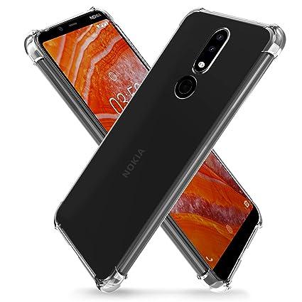 on sale 3a327 7d47f Amazon.com: Vicstar Nokia 3.1 Plus Case, Soft Clear Crystal Flexible ...