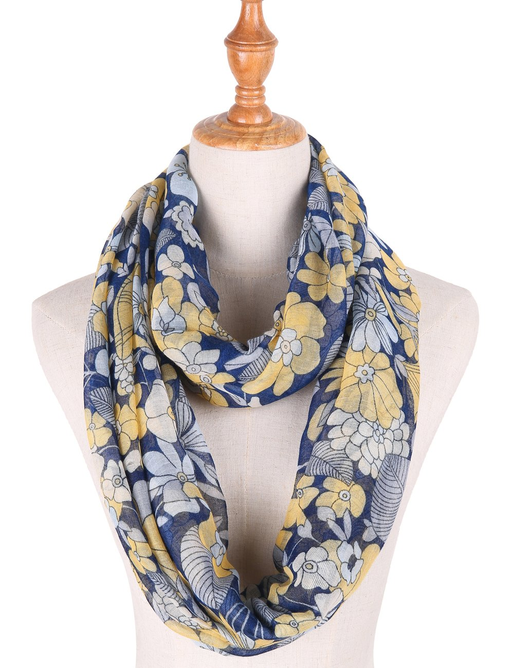 Infinity Scarfs for Women Loop Circle Scarves Floral Print Lightweight Scarf