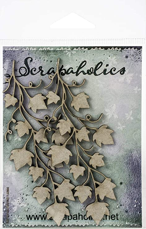 """4/""""-2/"""" 2//Pkg Scrapaholics Laser Cut Chipboard 1.8mm Thick-Whimsy Vine 3"""