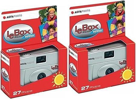 Agfaphoto Einwegkamera Lebox 400 27 Outdoor 2 Er Set Bis Zu 54 Aufnahmen
