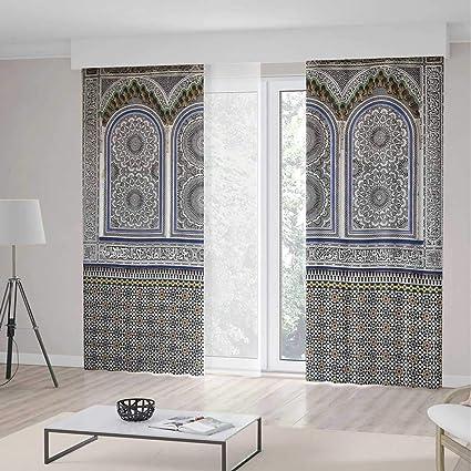 Amazon.com: YOLIYANA Bedroom Blackout Curtains,Arabian Decor ...