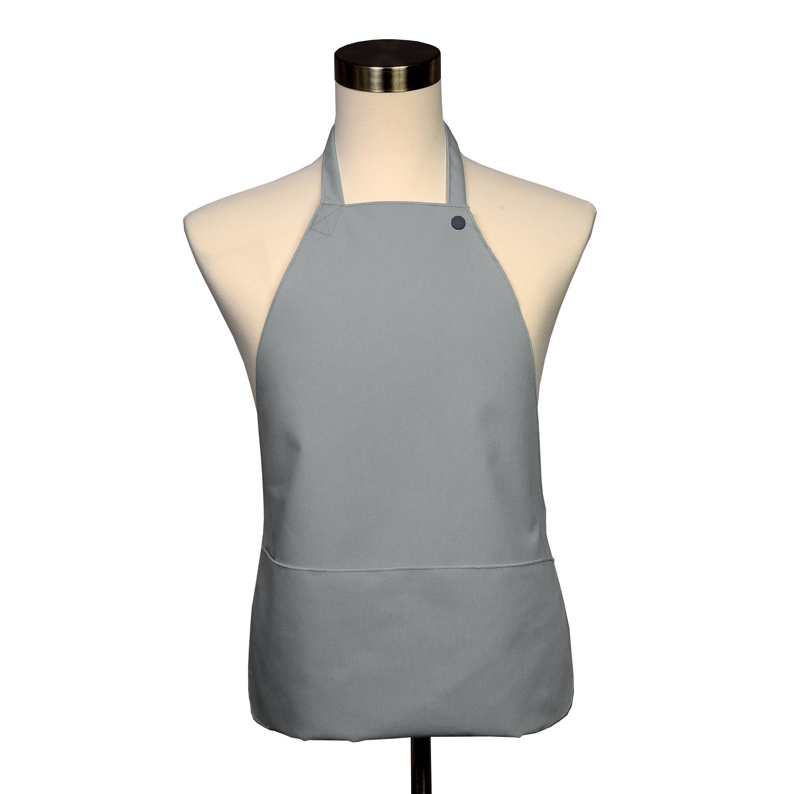 Adult Bib 10 Pack - Covered with Care Assorted Colors Available! (Gray) by Fabric Textile Products