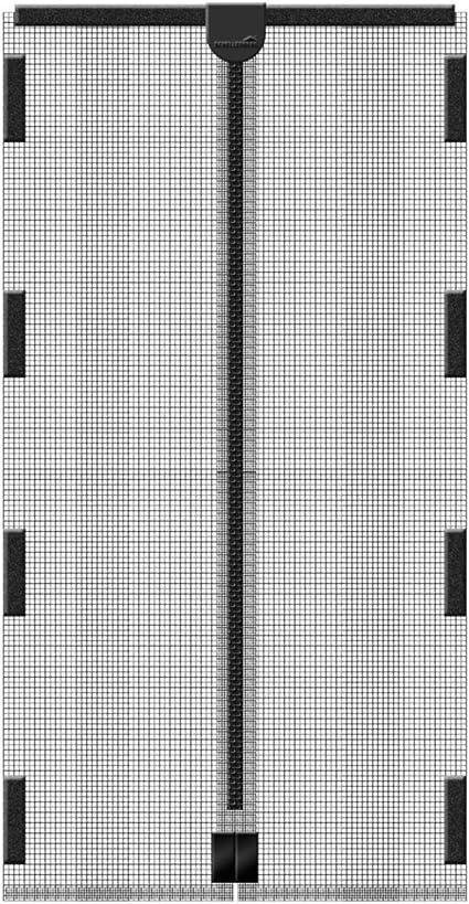 Insektenschutz Magnetvorhang Schellenberg 120x240cm anthrazit