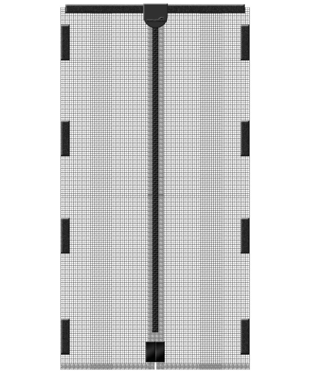 120 x 240 cm in Anthrazit Schellenberg 50641 Insektenschutz-Magnetvorhang Fliegengitter mit Magnet f/ür T/üren
