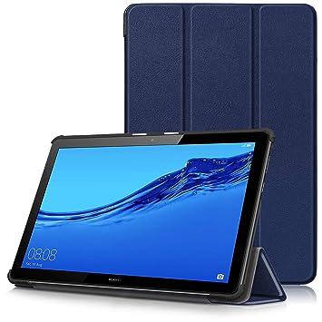 Huawei MediaPad T5 10 Funda, Carcasa Ultra Delgado y Ligero con Cubierta de Soporte para Huawei MediaPad T5 - Tablet 10.1