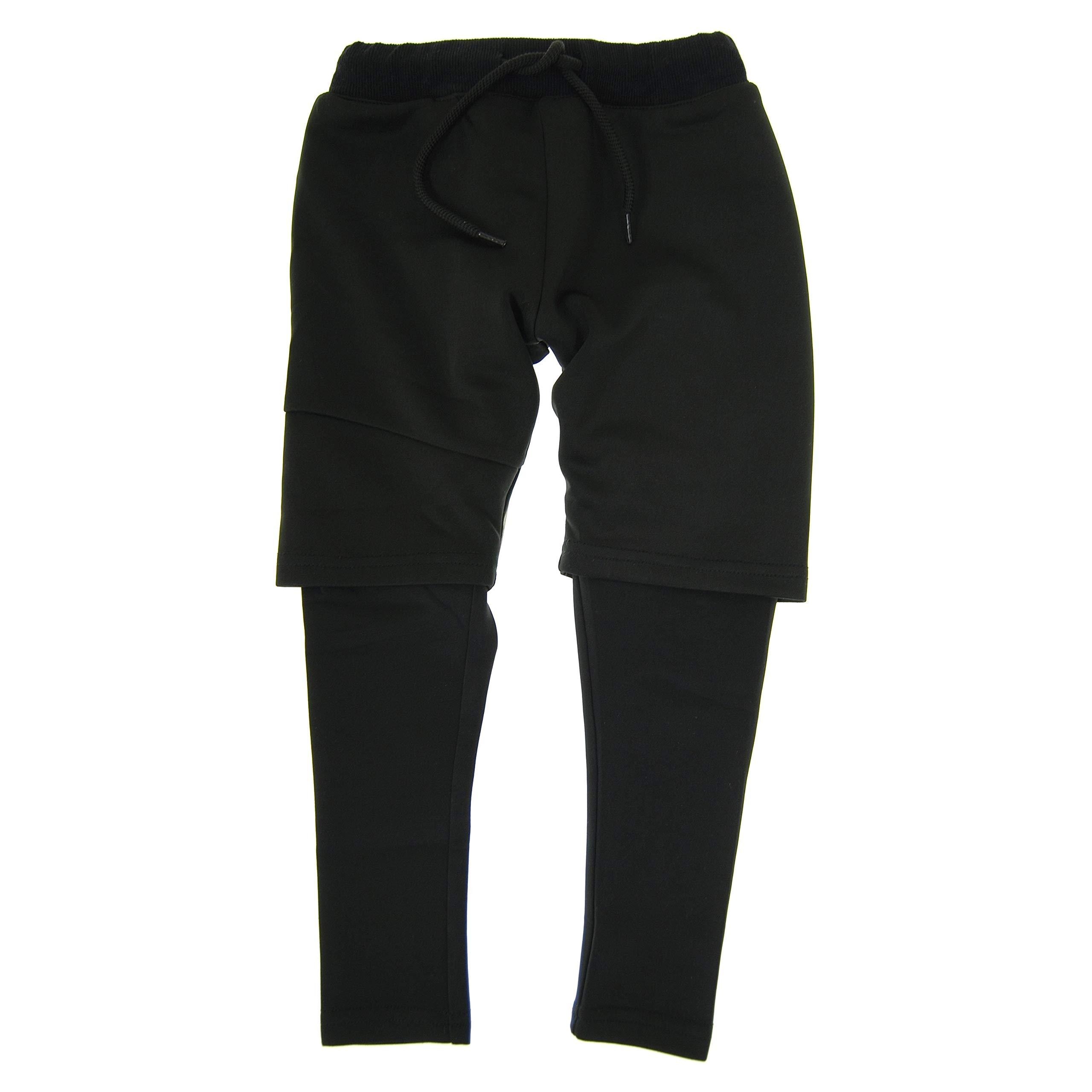 Mini Shatsu Black Twofer Pants