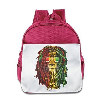 Cuipo jucpoi Kid s mochila Diseño de León Rasta Fashion pelo para bebé Niños Niñas