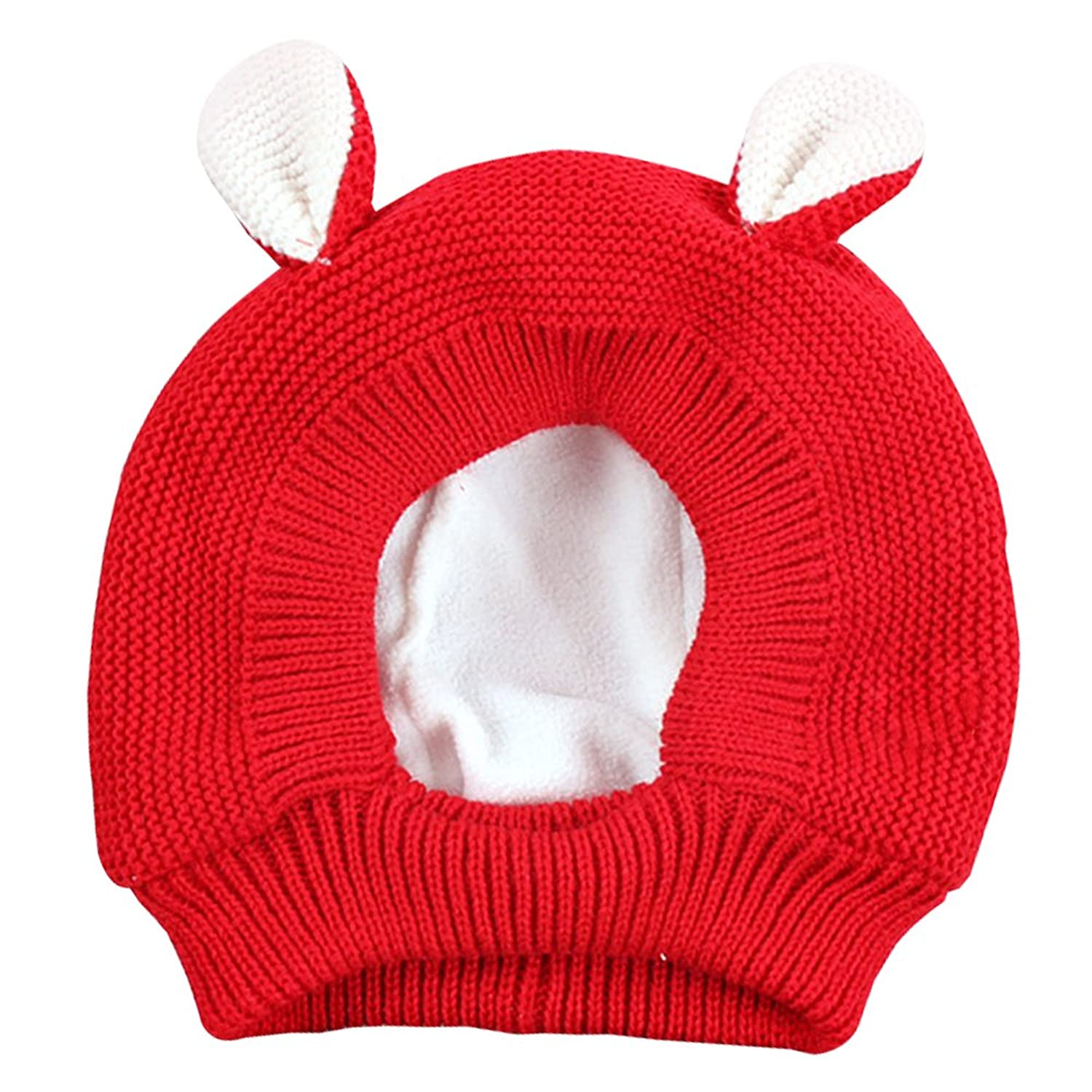 f18268d0922 KINDOYO Baby Boy s Girl s Winter Warm Hooded Scarf Earflap Knitted Hat  Rabbit shape 1-3 Years Old