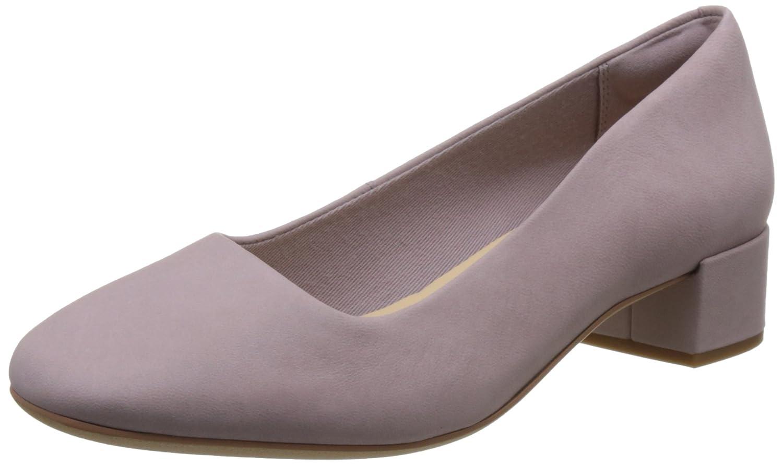 Clarks - Zapatos de Cordones de Cuero para Mujer Morado Morado 39.5 EU