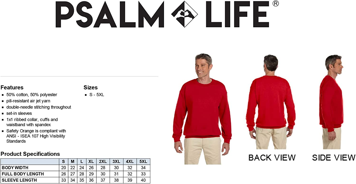 Unisex Fall Crewneck Psalm Life Pumpkins Hayrides Apple Cider and Falling Leaves Pullover Sweatshirt