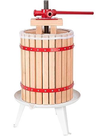 TecTake Prensador de Fruta Extractor Filtro Jugo Exprimidor Manual Prensa Naranja | Incl. paño de