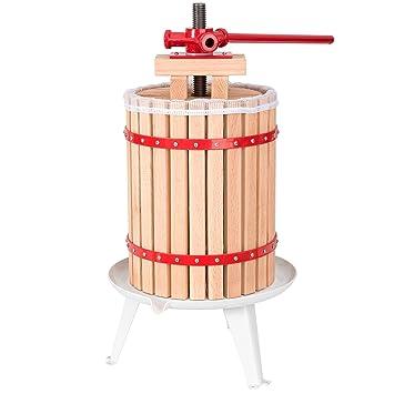 TecTake Prensador de Fruta Extractor Filtro Jugo Exprimidor Manual Prensa Naranja | Incl. paño de prensa - varias tamaños - (18 litros | no.