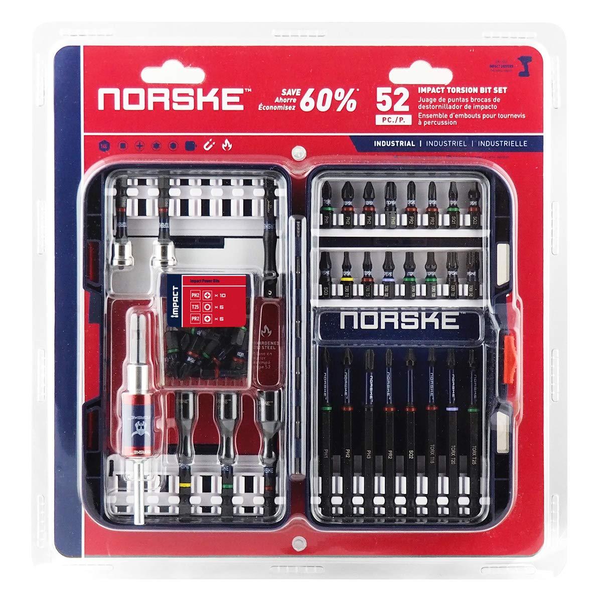 Norske Tools NIBPI707 52-Piece Impact Torsion Bit Set
