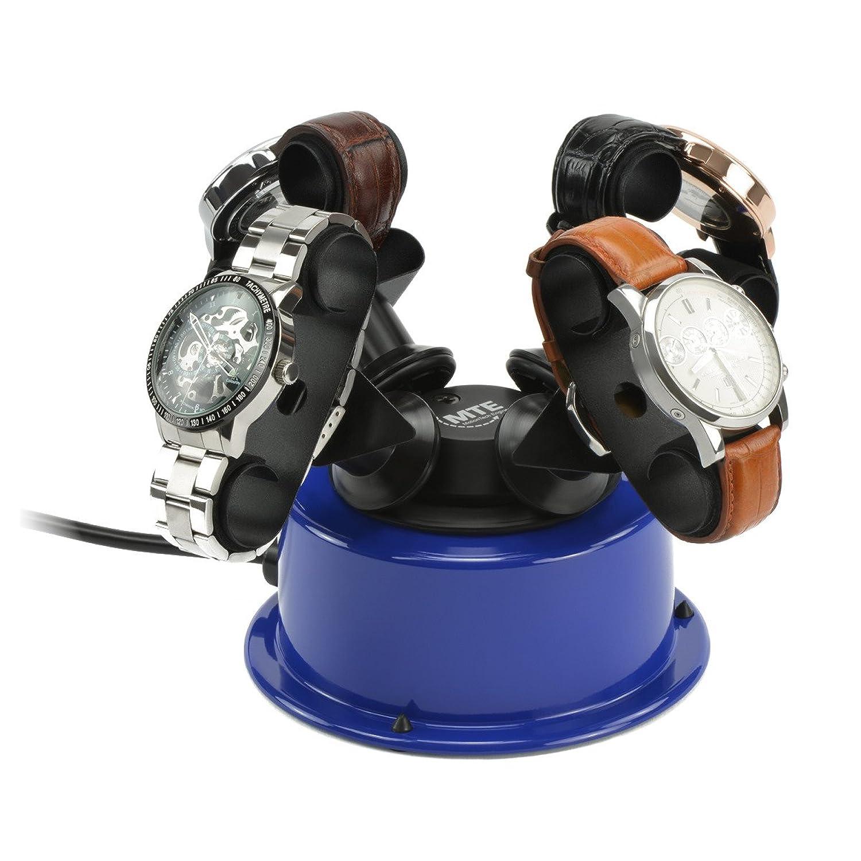 MTE Uhrenbeweger WTS 4 POP BLUE fÜr bis zu 4 schwere Uhren