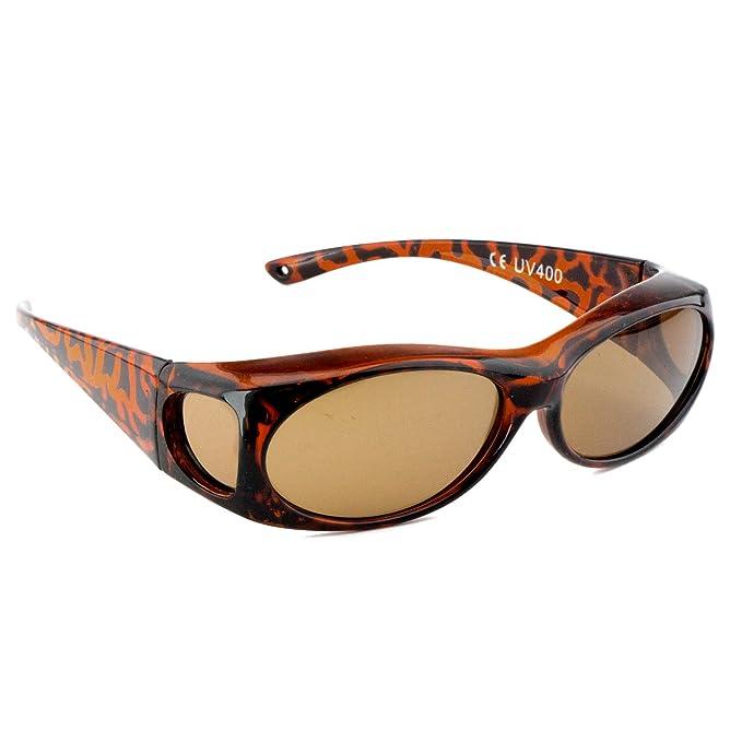 Figuretta Gafas de sol Gafas superpuestas en leopardo imitación de la TV Publicidad
