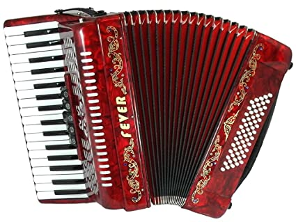 Amazon Fever F3460 Rd Piano Accordion With 5 Switches 34 Keys
