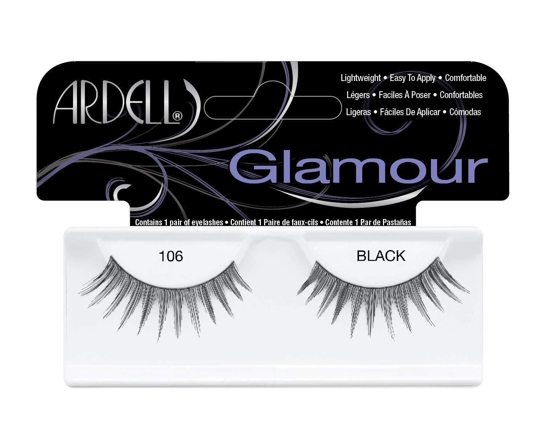 c8f91ac3715 Amazon.com : Ardell Glamour Eye Lashes, Black [106] 1 ea : Beauty