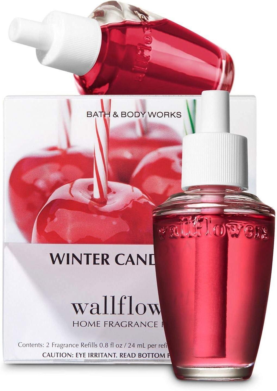 Slatkin and Co. Winter Candy Apple Wallflower Refill pack of 2 bulbs