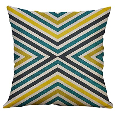 Geometric Decorative Throw Pillow Covers Square Cotton Linen Cushion Covers Outdoor Sofa Home Pillow Covers 50x50 cm: Musical Instruments