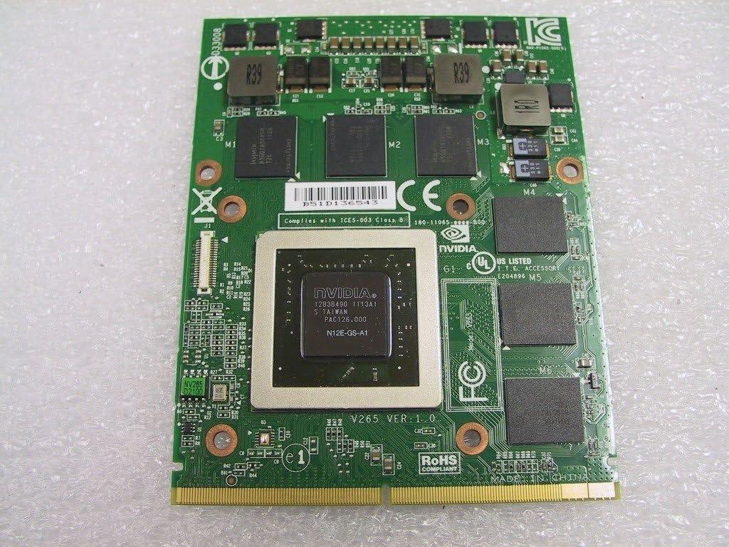 DELL nVidia N12E-GS-A1 GTX 560M 1.5GB DDR5 VGA Card 0YT99J