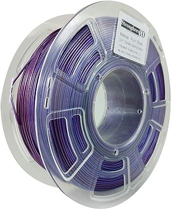 Stronghero3D PLA Filamento para impresora 3D, 1,75 mm, multicolor ...