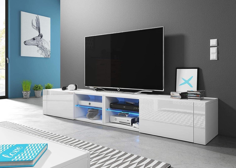 VIVALDI Mueble para TV - Hit 2 DOUBLE - 200 cm - Blanco Mate con ...