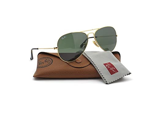 7d29af4bf0a Amazon.com  Ray-Ban RB3025 181 Unisex Aviator Sunglasses (Gold Frame Dark  Green Lens 181