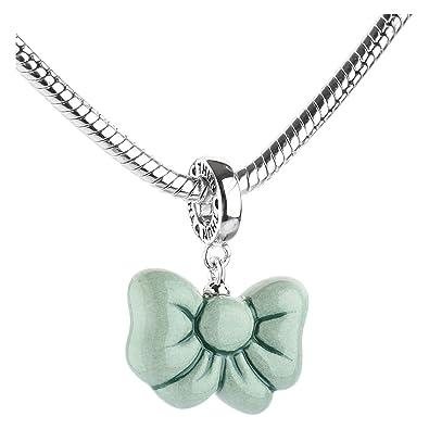 Thun Charm Collection Fiocco Verde In Ceramica Amazon It Gioielli