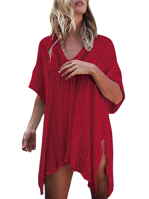 achten Sie auf Preis bleibt stabil noch eine Chance neu BoBoLily Frauen Bikini Cover Up Elegant Kurzarm V ...