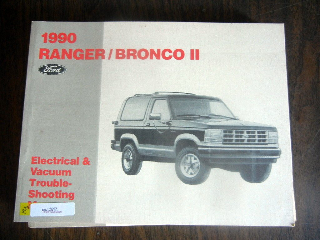 1990 ford ranger and bronco ii electrical troubleshooting manual paperback  – 1990