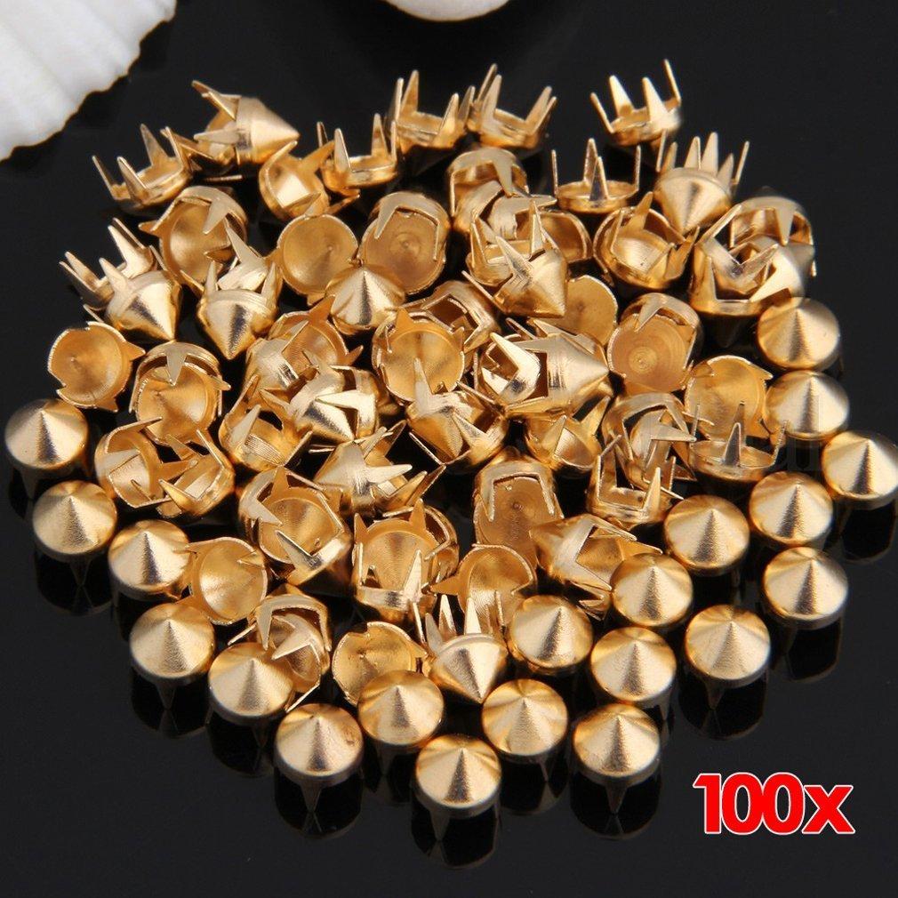 100X Apliques Remaches Cobre Dorado Tachuelas Bolsa//Calzado//Guante SODIAL R
