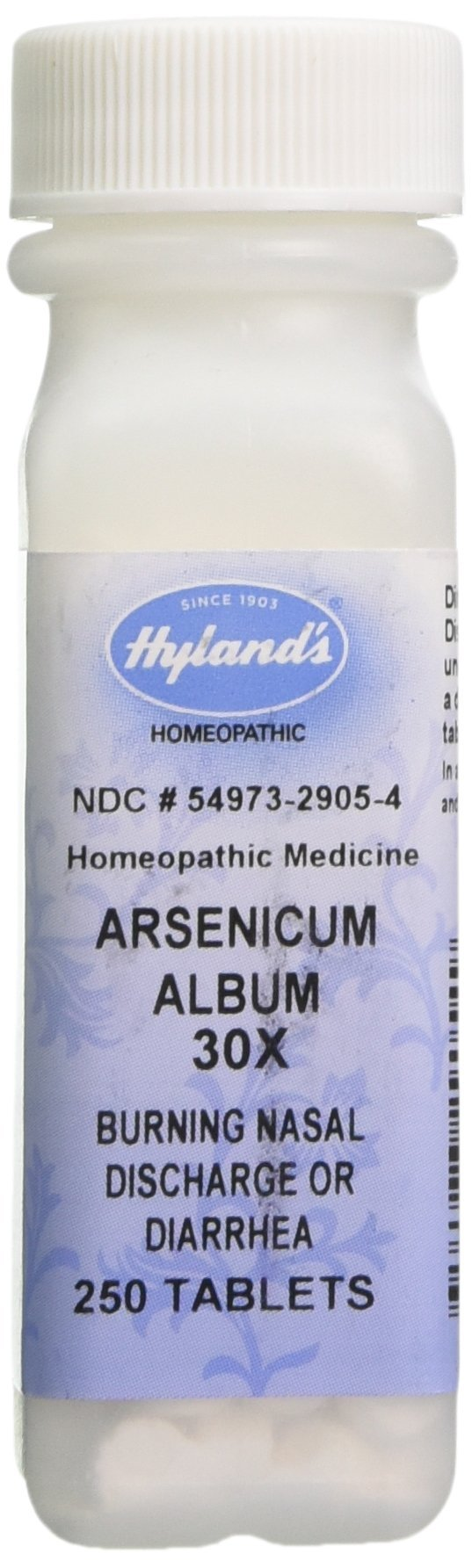 Hyland's Arsenicum Album 30X Tablets, Natural Relief of Burning Nasal Discharge or Diarrhea, 250 Count