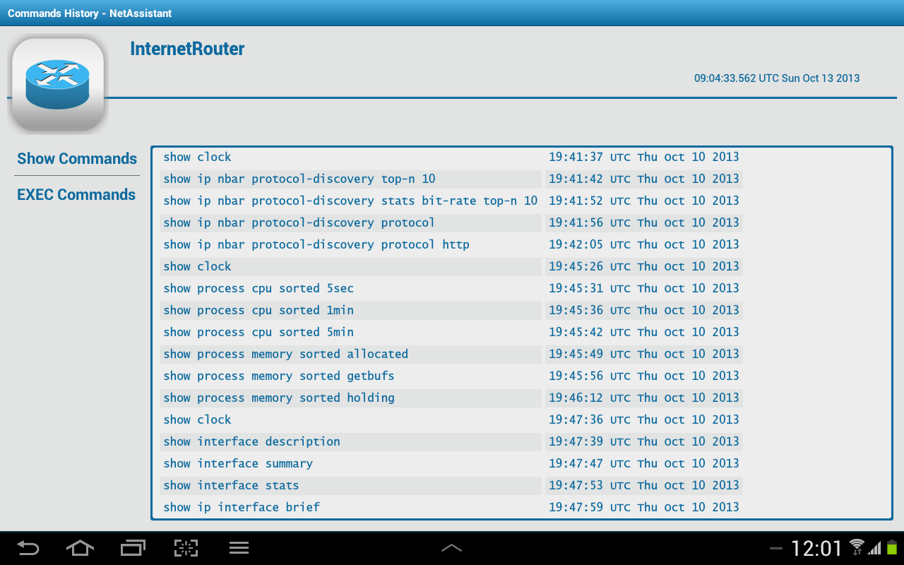 Amazon com: Router Commands History NetAsssitant: Appstore for Android
