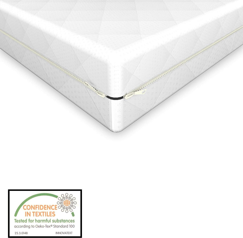 Neu.Haus Colch/ón para ni/ños Espuma fr/ía 60 x 120 cm Textil de Confianza Certificado Oeko-Tex 100 Hecho en UE