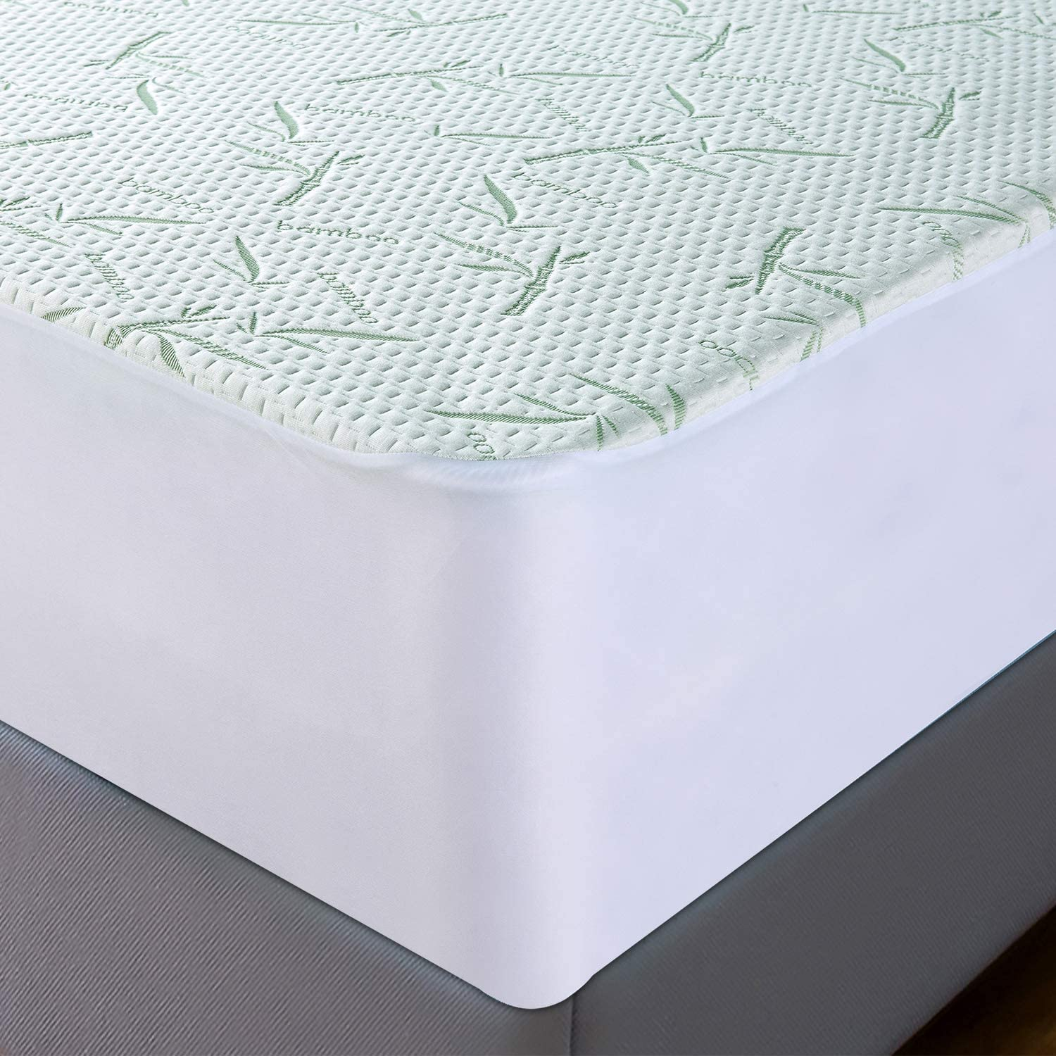 Utopia Bedding Bamboo Mattress Protector – Breathable and Waterproof Mattress Cover - Smooth Grip - Fits 17 Inches Deep - Easy Care (King): Home & Kitchen
