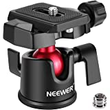 Neewer Camera Video Tripod Ball Head 360 Degree Rotating Panoramic Ballhead with 1/4 inch Quick Shoe Plate and Bubble Level for DSLR Camera Camcorder Tripod Monopod, Load up to 11 pounds/5 kilograms