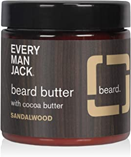 product image for Every Man Jack Beard Butter - Sandalwood | 4-ounce - 1 Jar | Naturally Derived, Parabens-free, Pthalate-free, Dye-free, and Certified Cruelty Free