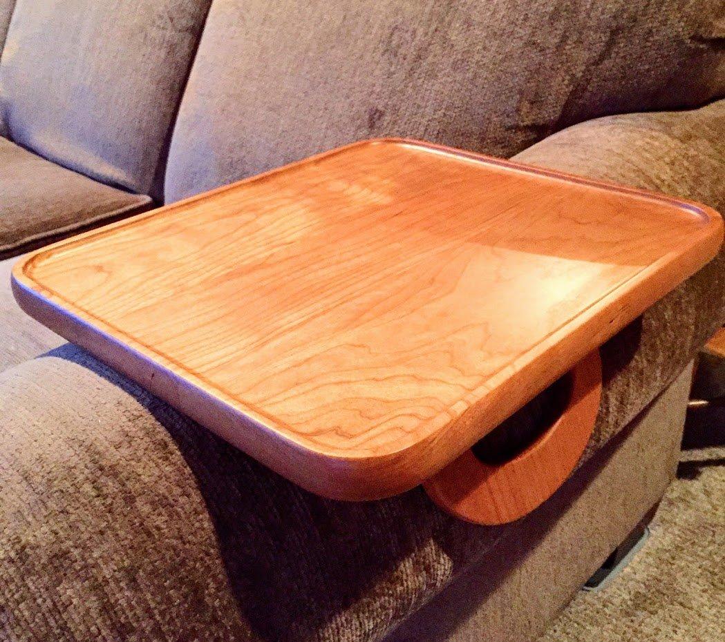 Sofa Arm Snack Tray Table --- Cherry (Rectangular)