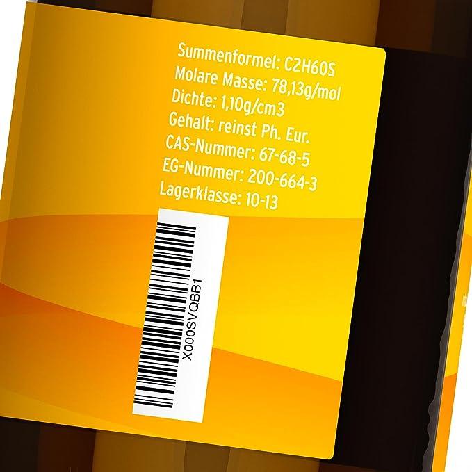 dmso 250 ml ph. euros. Botella su marcas dmso dimi Sulf en marrón cristal lichtgeschützt - Fabricado en Alemania.: Amazon.es: Salud y cuidado personal