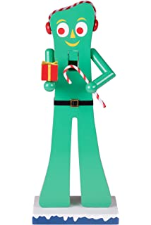 gumby wooden christmas nutcracker by clever creations officially licensed with earmuffs gift - Nightmare Before Christmas Nutcracker