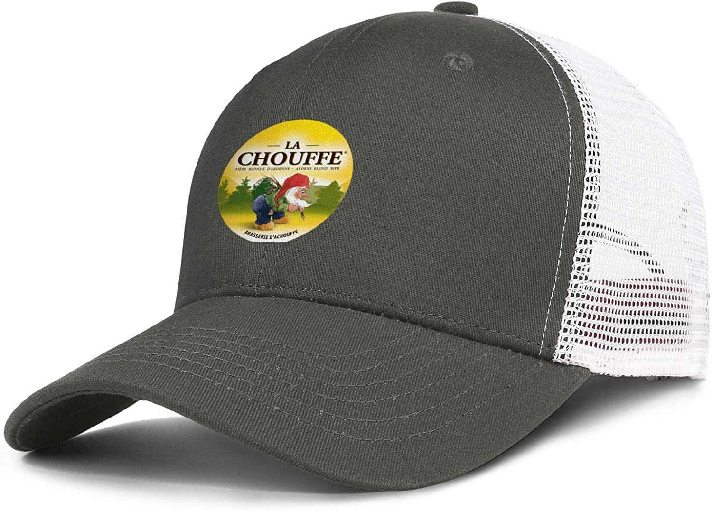 QWQD Achouffe La Chouffe Mens Women Mesh Trucker Cap Adjustable Snapback Beach Hat