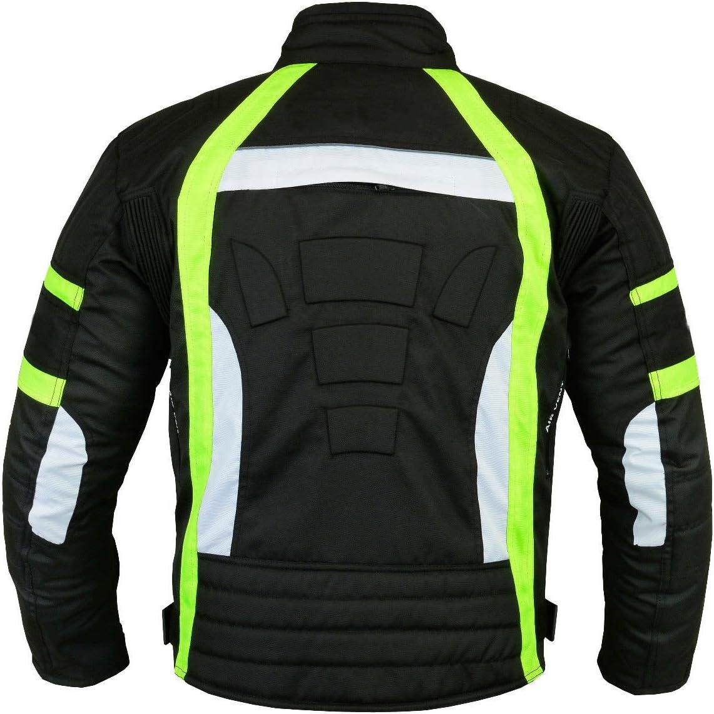 Giacca da motociclista impermeabile per scooter da motociclista in tessuto Cordura e armatura omologata CE per ragazzi da uomo in 6 colori diversi