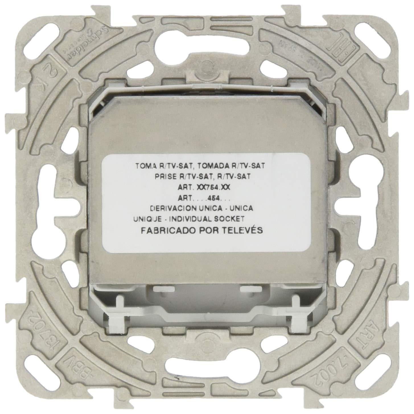 Schneider Electric Mgu50.454.18zg Toma R-tv//Sat Derivacion Unica Polar