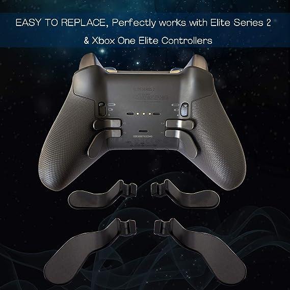 E-WOR - Kit de 4 palas y 2 almohadillas de metal para Xbox One Elite Controller Series 2: Amazon.es: Electrónica