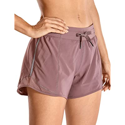 CRZ YOGA Quick-Dry Loose Running Shorts Women Sports Workout Shorts Gym Athletic Shorts with Pocket -4 Inches: Clothing
