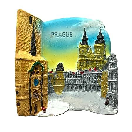 Imán de nevera Praga 3D para nevera, recuerdos de viaje, resina ...