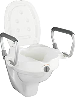 RIDDER WC-Erh/öhung mit Griffen und Deckel wei/ß