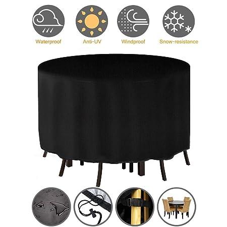 Cubra los muebles a prueba de agua, la mesa redonda del jardín de ...